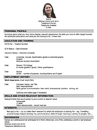 Good CV Style One  Teacher Resume Builder